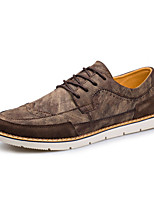 Men's Fashion Bullock Carved Shoes Casual Oxfords Leather Shoes Party & Evening Flat Heel Lace-up EU37-43