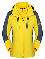 Hiking Softshell Jacket Men's Waterproof / Breathable / Thermal / Warm / Windproof / Wearable Winter Yellow / Red /