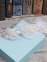 Femme Plume Strass Tissu Casque-Mariage Occasion spéciale Décontracté Couronnes 1 Pièce