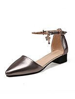 Women's Sandals Spring / Summer / Fall Comfort PU Casual Low Heel Buckle Gray / Gold Others