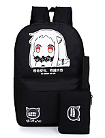 Unisex Canvas / Polyester Sports / Casual / Outdoor Backpack Black