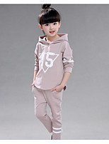 Girl Casual/Daily Print Sets,Cotton Fall Long Sleeve Clothing Set