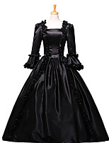 Steampunk@Royal Dress Silvery Costume Black Fashion Clothing Fashion Party Dress