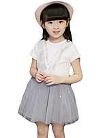 Girl's Casual/Daily Solid Dress / Clothing SetOthers Summer Pink / Beige