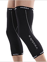 Unisex Knee Brace Breathable Compression Stretchy Camping & Hiking Fitness Running Sports Outdoor Nylon Spandex Black White