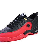 Men's Athletic Shoes Comfort Leather Flat Heel Lace-up Black / Black and Red / Black and White Basketball Shoes EU39-43