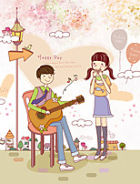 Romance DIY Sweet Couple Happy Day Wall Stickers Fashion PVC Living Room Bedroom Wall Decals