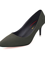 Women's Heels Winter Comfort Cashmere Casual Stiletto Heel Hollow-out Black / Green / Gray Walking