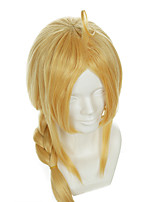 Full Metal Alchemist Edward Elric Special Gold Styling Halloween Wigs Synthetic Wigs Costume Wigs