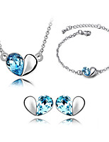 Thousands of colors Jewelry Necklaces / Earrings / Bracelets & Bangles Jewelry set Crystal Fashion- 9-1-391-2-063-3-056