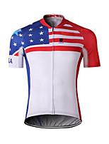 Deportes Hombres Mangas cortas BicicletaTranspirable / Secado rápido / Diseño Anatómico / Resistente a los UV / Listo para vestir / A