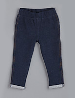 Girl's Casual/Daily Solid PantsCotton Fall Blue