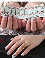 1sheet Nail Sticker Art Autocollants de transfert de l'eau Maquillage cosmétique Nail Art Design