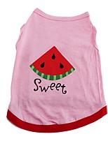Chat / Chien T-shirt / Gilet Incanardin Vêtements pour Chien Hiver / Eté / Printemps/Automne FruitMignon / Mode / Décontracté / Quotidien