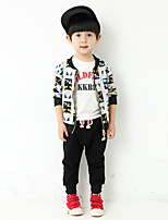 Boy's Casual/Daily Print Clothing SetCotton Winter White
