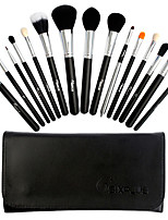 15 Makeup Brushes Set Goat Hair Professional / Portable Wood Face/Eye / Lip