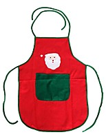 Non-Woven Santa Claus Apron Free Size For Birthday / Christmas Day