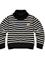 Girl's Casual/Daily Striped Sweater & CardiganCotton Winter Blue