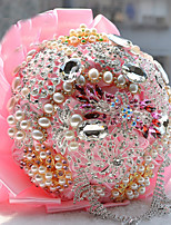 Wedding Flowers Round Roses Bouquets Wedding Dried Flower Rhinestone 19.3