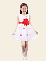 Girl's Going out Solid Dress,Others Summer Pink / Purple / Red