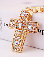 Creative New Car Keychain Diamond Pendant Pendant Chain Key Hollow Cross Package