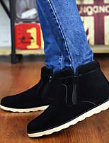 Men's Boots Winter Comfort Fabric Casual Black Blue Brown