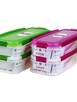 Eco Waterproof Double Layer Stackable Freezer Safe Food Container (1.5L*2P)