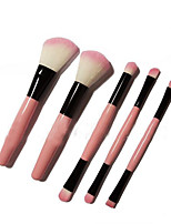 5 Makeup Brushes Set The Persian Wool Portable Wood Face NFSS