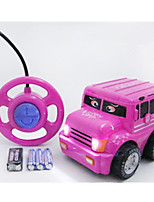 Car Racing 566-3C 1:10 Brush Electric RC Car / 2.4G Pink Ready-To-Go Remote Control Car