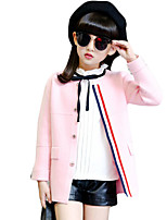 Girl Casual/Daily Solid Suit & Blazer,Cotton Spring / Fall Long Sleeve