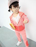 Girl's Casual/Daily Color Block Clothing SetCotton Spring / Fall Pink