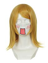 Vocaloid Meiko Kagamine Rin смешанный золотисто-желтый универсальный перевернутый Хэллоуин парики синтетические парики Карнавальные парики