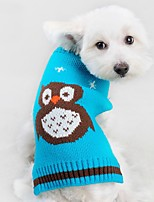Cat / Dog Sweater Red / Orange / Green / Blue Dog Clothes Winter / Spring/Fall Animal Cute / Casual/Daily