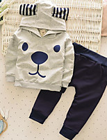 Boy's Casual/Daily Print Clothing SetCotton Spring / Fall Gray