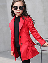 Girl's Casual/Daily Solid Suit & BlazerCotton Spring / Fall Pink / Red / Gray