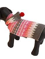 Katzen / Hunde Kostüme / Mäntel / Pullover / Kapuzenshirts / Kleider Rosa Hundekleidung Winter / Frühling/Herbst StreifenNiedlich /