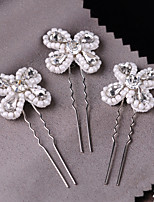 Femme Strass Imitation de perle Casque-Mariage Occasion spéciale Fleurs 3 Pièces