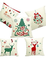 1 pcs Linen Pillow Case,Holiday Accent/Decorative
