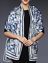 Women Silk Scarf,Casual RectanglePrint