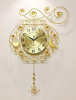 Модерн Домики Настенные часы,Прочее Акрил / Алюмин / Металл 52*75cm В помещении Часы