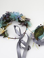 Women's Fabric Headpiece-Wedding / Special Occasion / Casual / Outdoor Wreaths 2 Pieces