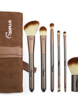 6 Makeup Brushes Set Synthetic Hair Professional / Portable Plastic Face / Eye
