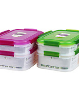 Double Compartment Freezer Safe Food Storage Container Cool Lunch Container Item NO. 467