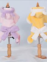 Собаки Плащи Желтый / Лиловый Одежда для собак Зима Мультфильмы Милые / На каждый день /