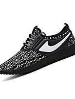 Men's Sneakers Spring / Fall Comfort PU Casual Flat Heel Lace-up Black / Blue / Gray Others