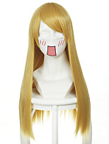 Touhou Gensoukyon Project Lilywhite Mixed Orange Yellow Long Straight Halloween Wigs Synthetic Wigs Costume Wigs