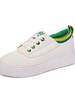 Черный / Синий / Зеленый-Женский-На каждый день-Полиуретан-На плоской подошве-Удобная обувь-Кеды