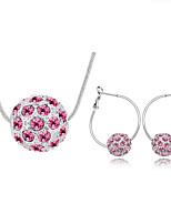 Schmuck Halsketten / Ohrringe Schmuckset Kristall Modisch Alltag 1 Set Damen Rosé / Marinenblau / Weiß / Lila Hochzeitsgeschenke