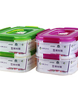 Portable Microwave Sealable Plastic Food Container Lunch Container Set (1.6L*2P)