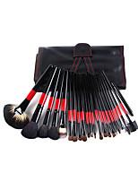 22 Blush Brush / Eyeshadow Brush / Brow Brush / Eyeliner Brush Professional / Travel / Full Coverage Wood